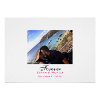 Personalized Wedding Signature Canvas Poster