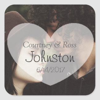 Personalized Wedding Sticker with Couple's Photo