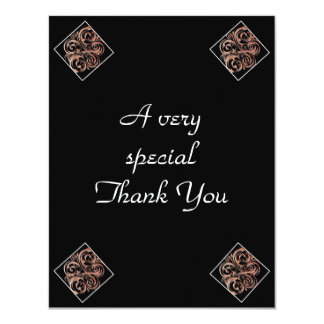 """Personalized Wedding Thank You cards 2 sided 4.25"""" X 5.5"""" Invitation Card"""