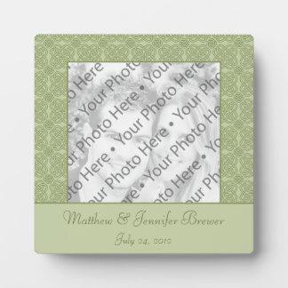 Personalized Wedding Tile Gift & Keepsake w/ Text Plaque
