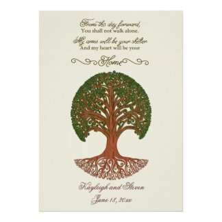 Personalized Wedding Tree Poster