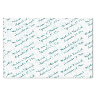 Personalized Wedding - Turquoise Tissue Paper