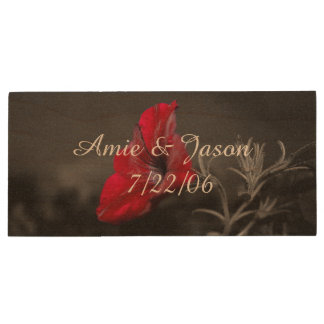 Personalized wedding usb drive with flower print