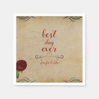 Personalized Wedding Vintage Paper Napkins