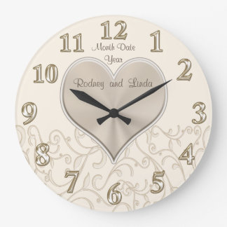 Personalized Wedding Wall Clocks or Anniversary