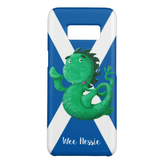 Personalized Wee Nessie Waves Hello! Saltire Case-Mate Samsung Galaxy S8 Case