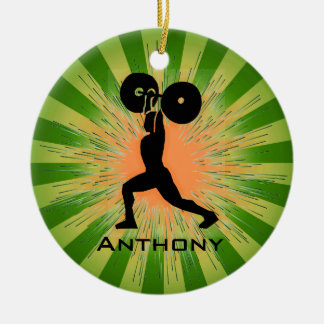 Personalized WeightLifter/BodyBuilder Ornament
