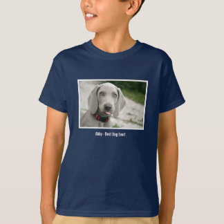 Personalized Weimaraner Dog Photo and Dog Name T-Shirt