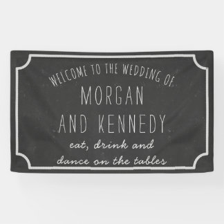 Personalized Welcome Chalkboard Wedding Banner