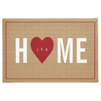 Personalized Welcome Home Initial Jute Doormat