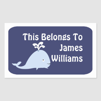 Personalized Whale Sticker Label