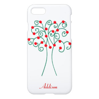 Personalized White Christmas Tree iPhone 7 Cases