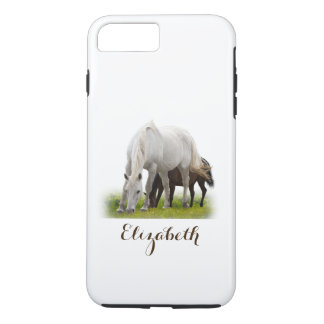 Personalized White Horse with Pony iPhone 8 Plus/7 Plus Case
