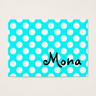 Personalized White Polka Dot Business Card