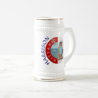 Personalized White Stein Best Boyfriend with Cat
