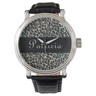 Personalized Wild Leopard Print Watch
