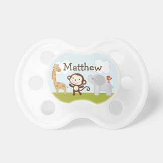 Personalized Wildlife Jungle Animals 2 Pacifier