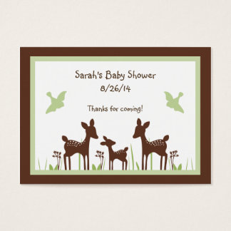 Personalized Willow Deer Family Favor/Tags Business Card