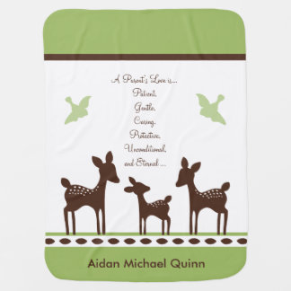 Personalized Willow Deer Family Keepsake Blanket