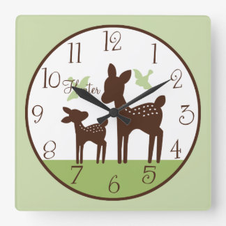 Personalized Willow Deer Mom and Baby Clock