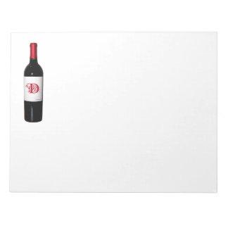 Personalized Wine Bottle Notepad