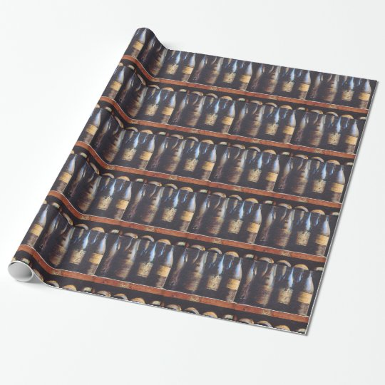 Personalized wine collectors accessories gifts wrapping paper