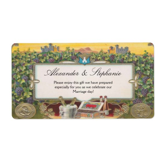 Personalized Wine Grapes Vineyard Labels