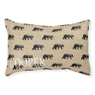 Personalized Winter Bear Dog Bed