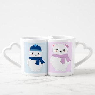 Personalized Winter Polar Bears Lovers Mug