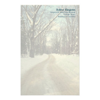 Personalized Winter Road Writing Paper Customized Stationery
