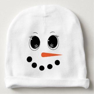 Personalized Winter Snowgirl Baby Hat Beanie Baby Beanie
