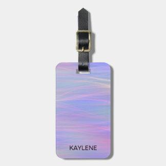 Personalized Wispy Rainbow Luggage Tag