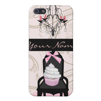 Personalized with CHIC Cupcake Damask iPhone 5 Cover
