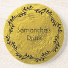 Personalized with Cool Wreath Coaster