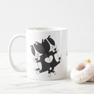 Personalized with Name Mug Cute Cats Custom Mug