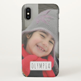 Personalized with photo and name iPhone X case