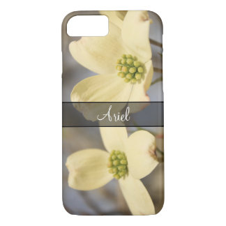Personalized with Photo of 2 Dogwood Blossoms iPhone 8/7 Case