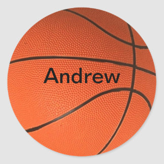 Personalized with Your Name Basketball Stickers