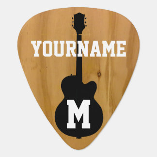 personalized wood-color standard pick