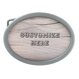 Personalized Wood Grain Design Belt Buckle