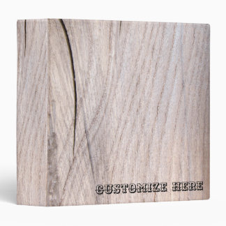 Personalized Wood Grain Design Ring Avery Binder