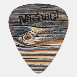 Personalized Wood Texture Cool Unique Pattern Guitar Pick