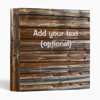 Personalized Wood Texture Cool Unique Vinyl Binder