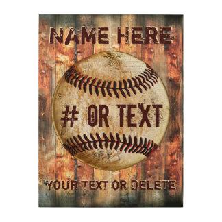 Personalized Wooden Baseball Wall Art