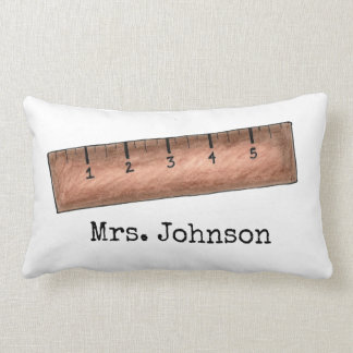 Personalized Wooden Ruler Teacher Gift Pillow