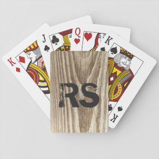 Personalized Woodgrain Playing Cards
