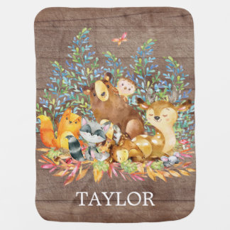 Personalized Woodland Boy | Gir  Receiving Blanket
