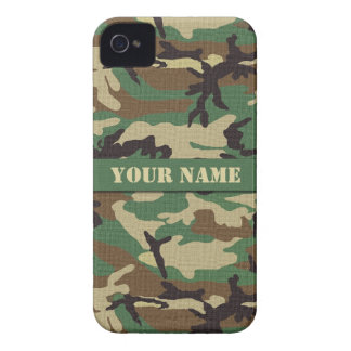 Personalized Woodland Camouflage iPhone 4/4S iPhone 4 Cover