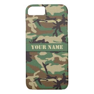 Personalized  Woodland Camouflage iPhone 7 Case