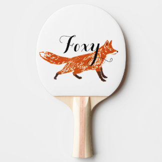 Personalized Woodland Creatures Fox Ping Pong Paddle
